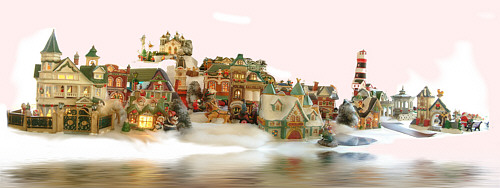 flooded village panorama