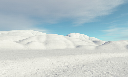 snow and sky in terragen