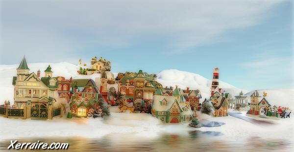Mom's Christmas Village
